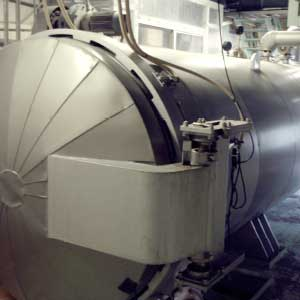 Continuous high pressure steaming equipment